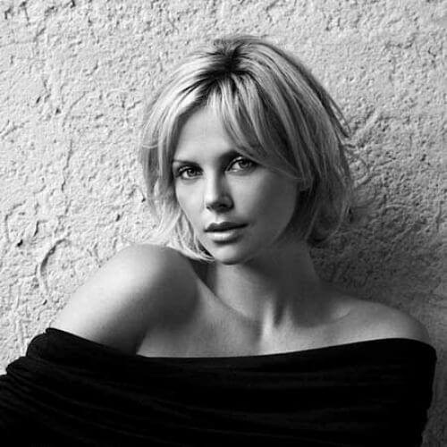 charlize theron short haircuts for straigth hair