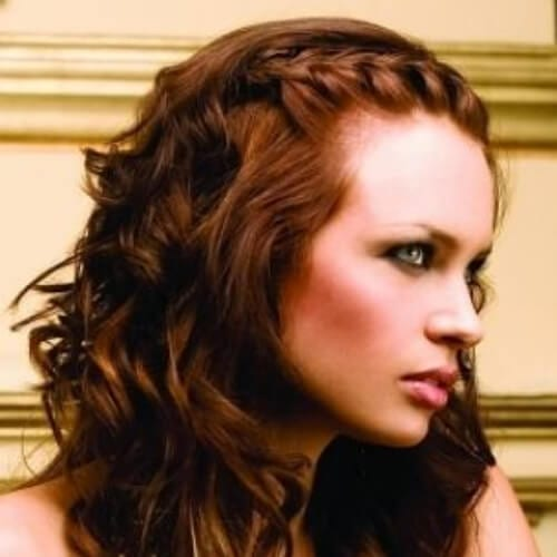 curly braided bang hairstyles