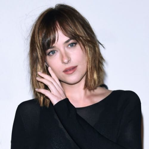 dakota johnson short haircuts for straight hair