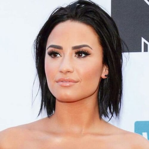 demi lovato short haircuts for straight hair