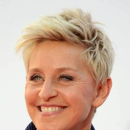 ellen short haircuts for straight hair
