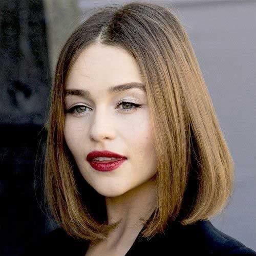 emilia clarke short haircuts for straight hair