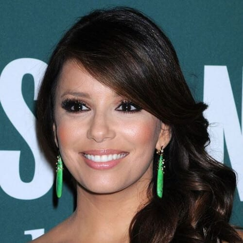 eva longoria side hairstyles for prom