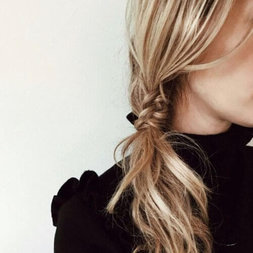 fishtail meets ponytail side hairstyles for prom