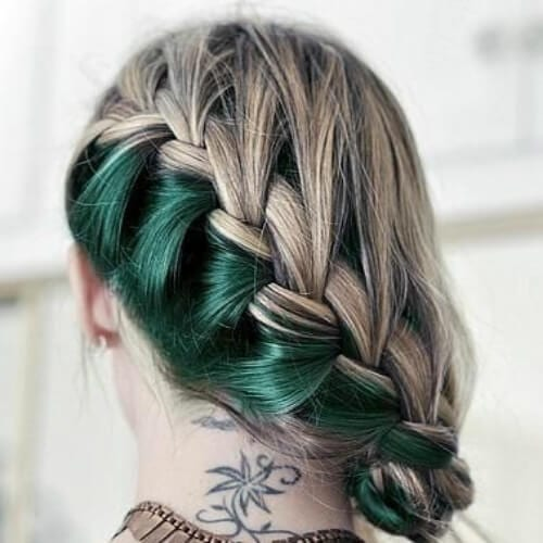green blonde side hairstyles for prom