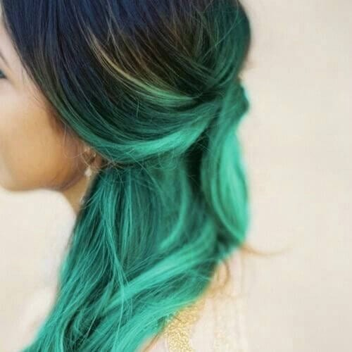 green side hairstyles for prom