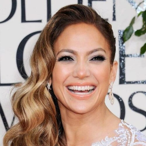 jennifer lopez side hairstyles for prom