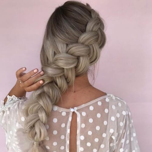 jumbo braid side hairstyles for prom