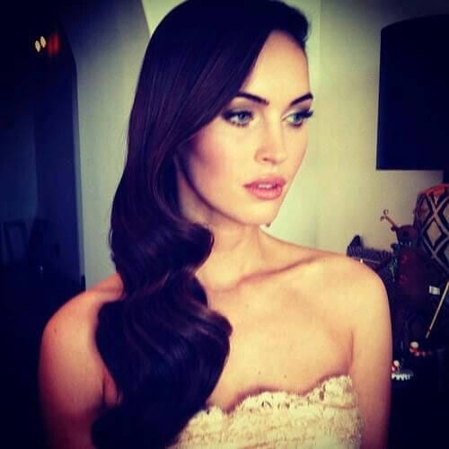 megan fox side hairstyles for prom