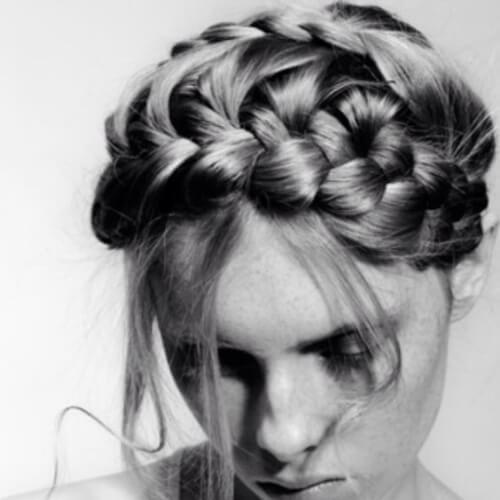 messy braided bang hairstyles