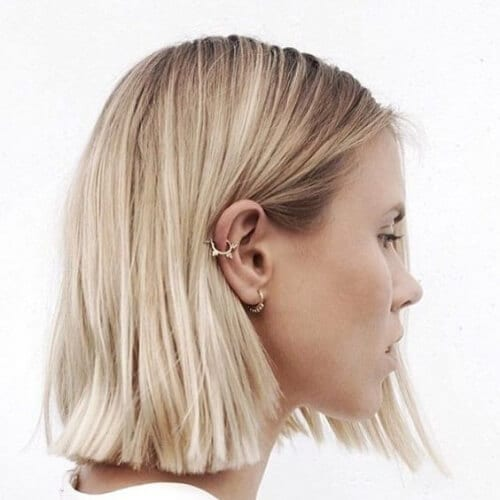 natural blonde short haircuts for straigth hair