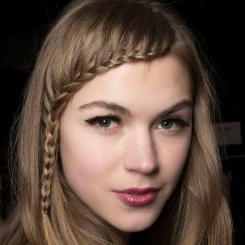 noisette braided bang hairstyles