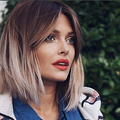 ombre short haircuts for straight hair