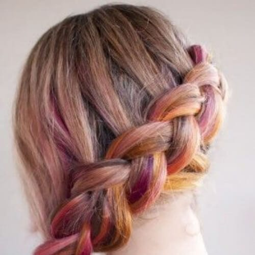 rainbow side hairstyles for prom