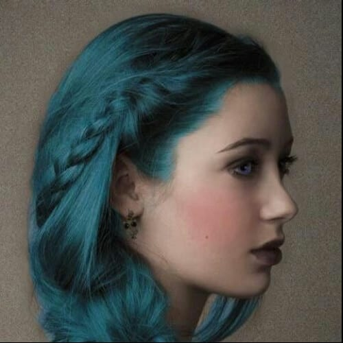 teal side hairstyles for prom