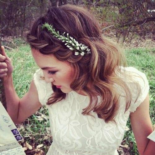 wedding braided bang hairstyles