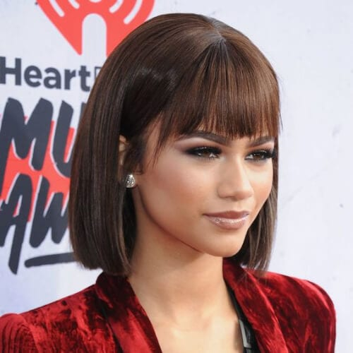 zendaya short haircuts for straight hair