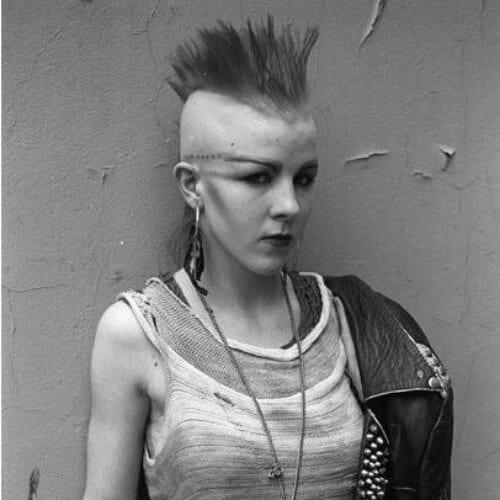 Street Portrait Kings Road June 1984 Photo by Derek Ridgers short punk hairstyles