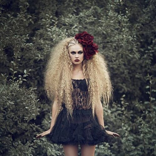 artistic crimped hairstyles