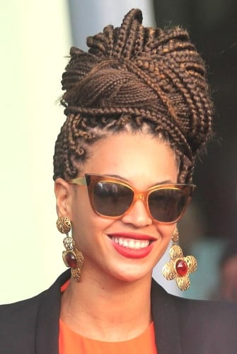 beyone weave goddess braids bun