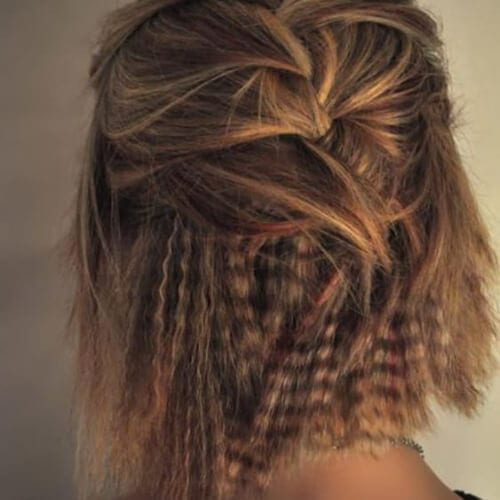 bob crimped hairstyles