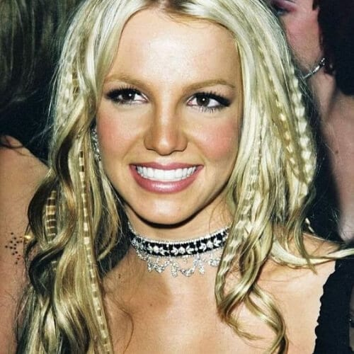 britney spears crimped hairstyles