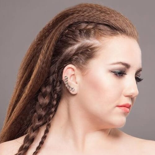 comb over crimped hairstyles