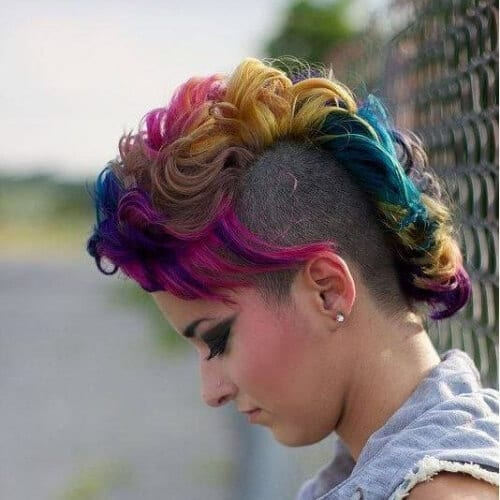 curly short punk hairstyles