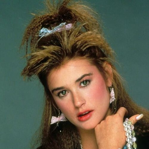 demi moore crimped hairstyles