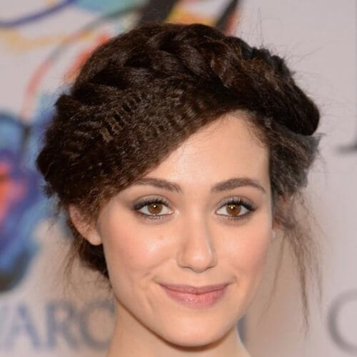 emmy rossum crimped hairstyles