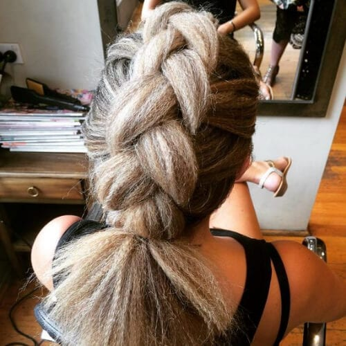 jumbo braid crimped hairstyles