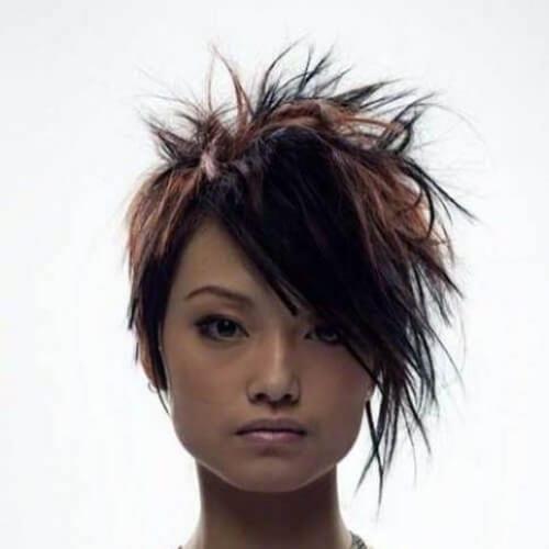 messy short punk hairstyles