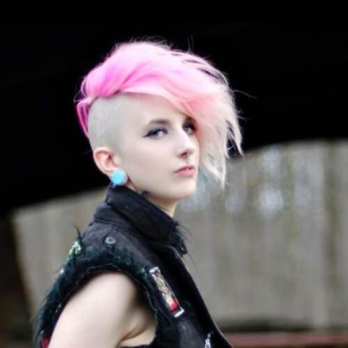 pink short punk hairstyles