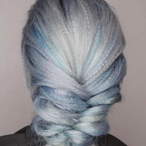 sea foam crimped hairstyles