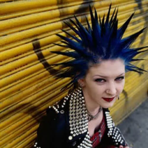 spikes short punk hairstyles