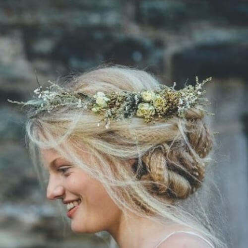 wedding crimped hairstyles