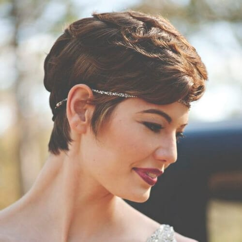 1930s vintage pixie cut short wedding hairstyles for short hair