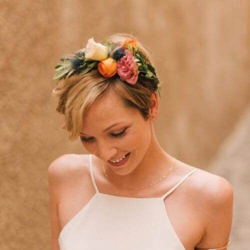 Bohemian wedding hairstyles for short hair