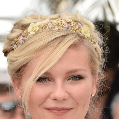 kirsten dunst wedding hairstyles for short hair