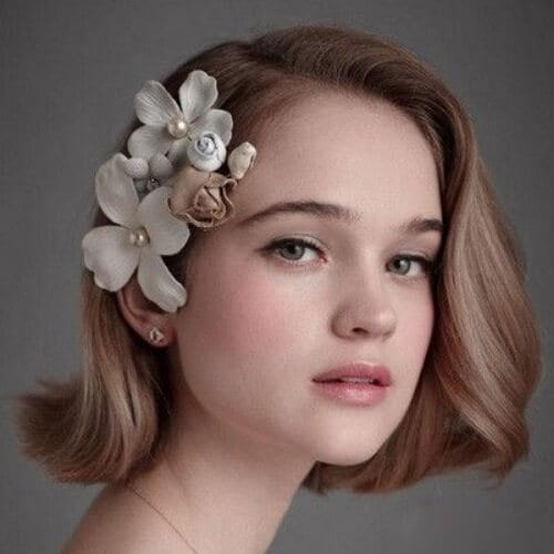 loose bob wedding hairstyles for short hair