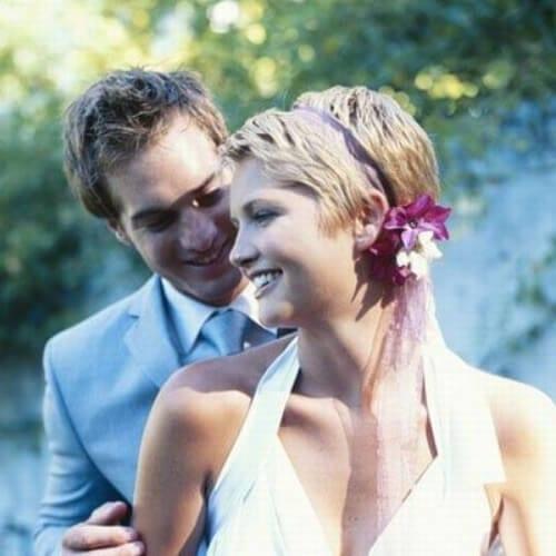 lovely wedding hairstyles for short hair