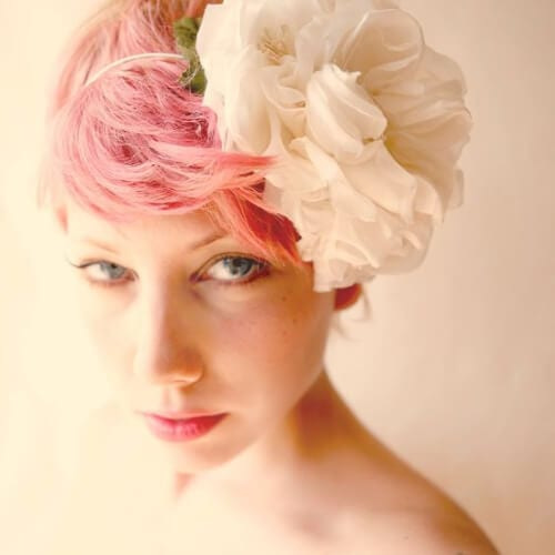 pink wedding hairstyles for short hair