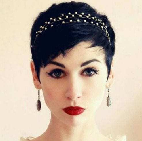 pixie wedding hairstyles for short hair