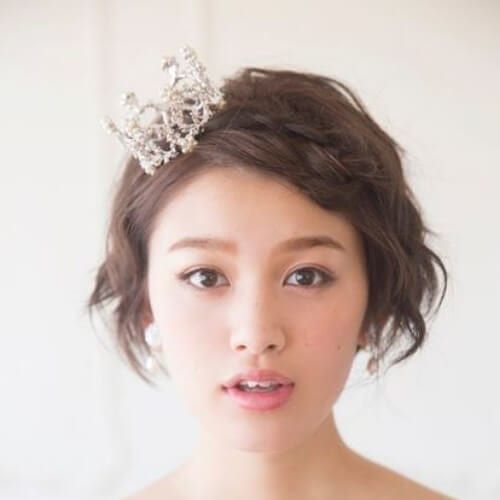 princess wedding hairstyles for short hair
