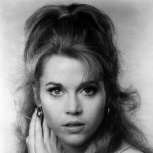 half up half down jane fonda hairstyles