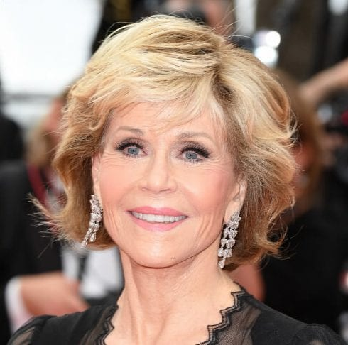 jane fonda hairstyles textured bob Cannes Film Festival screening of Sink or Swim