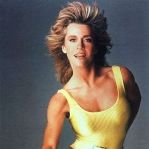 jane fonda hairstyles workout