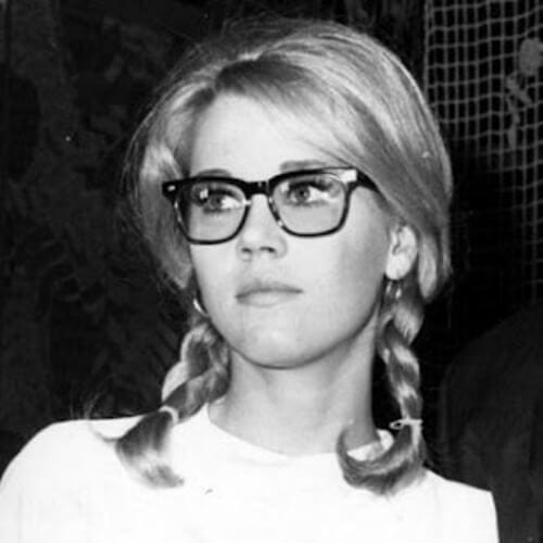 pigtails jane fonda hairstyles