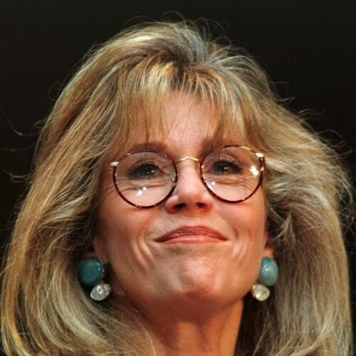 straight blowout jane fonda hairstyles