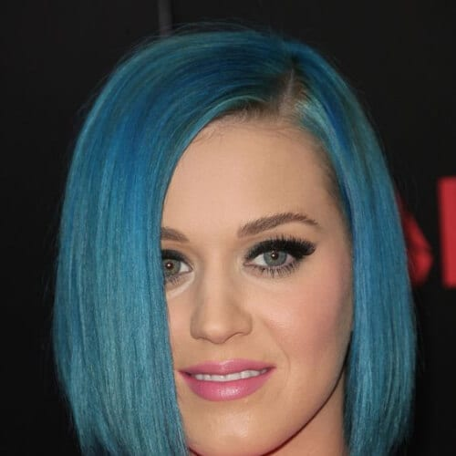 blue bob katy perry hairstyles